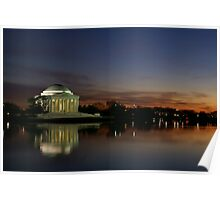 Jefferson Memorial Sunset Poster