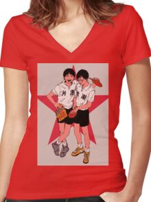 Ping Pong the animation Women's Fitted V-Neck T-Shirt