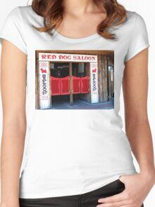 THE RED DOG SALOON JUNEAU ALASKA Women's Fitted Scoop T-Shirt