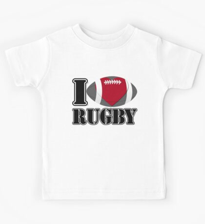 I Love Rugby T-shirt Kids Tee