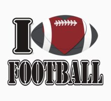 I Love Football T-shirt Kids Clothes