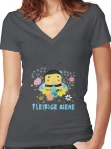 Fleißige Biene Women's Fitted V-Neck T-Shirt