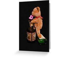 Boozy Bear Greeting Card