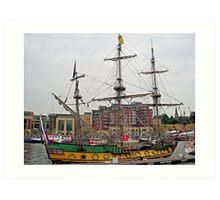 Frigate Shtandart  starboard side Art Print