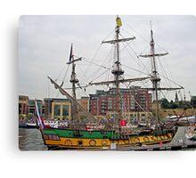 Frigate Shtandart  starboard side Canvas Print
