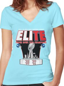 ELITE CHAMPIONSHIP EDITION!!! Women's Fitted V-Neck T-Shirt