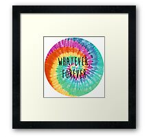 Modern Baseball Tie Dye - Whatever Forever Framed Print