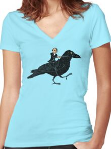 Poe and Raven Women's Fitted V-Neck T-Shirt