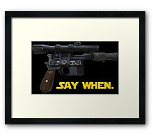 Han is Doc Framed Print