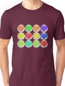 Colorful heart button - Art deco T-shirt Unisex T-Shirt