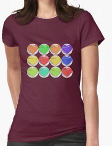 Colorful heart button - Art deco T-shirt T-Shirt