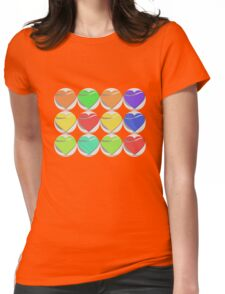 Colorful heart button - Art deco T-shirt Womens Fitted T-Shirt