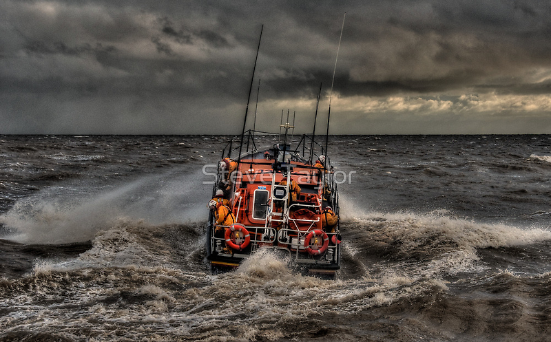 Aldeburgh Mersey Class RNLI lIfeboat by Steve Taylor