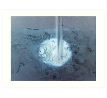 the inverted water logging Art Print