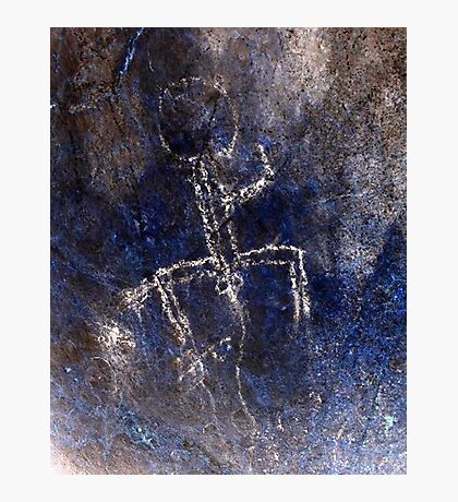 Boy Can't Wait-Hispanic Caribbean Taino Indian Caves Paintings Photographic Print
