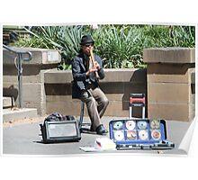 Street Musician in Hyde Park Poster