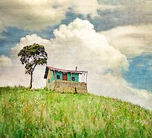 Little Shack on the Hill, square size by BobbiFox