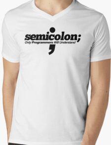 Programmer - Semicolon Mens V-Neck T-Shirt
