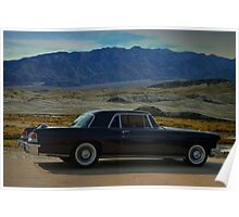 """1956 Lincoln Continental  Mark II """"At the desert ranch"""" Poster"""