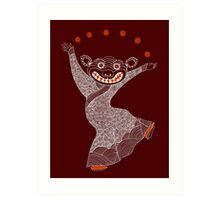 Ghost Tiger Juggler with Red Shoes Art Print