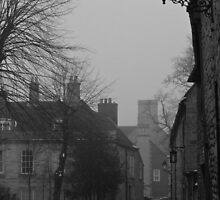 B/W Foggy Street by Paul Collin