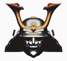 Black Kabuto (Samurai helmet) T-shirts and Stickers One Piece - Short Sleeve