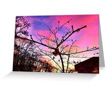 Sunset on Fairway Greeting Card