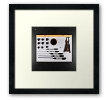 Electrigram - Black  Framed Print