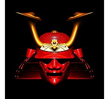 Red Kabuto (Samurai helmet) T-shirts and Stickers Photographic Print