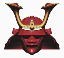 Red Kabuto (Samurai helmet) T-shirts and Stickers One Piece - Short Sleeve