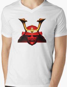 Red Kabuto (Samurai helmet) T-shirts and Stickers Mens V-Neck T-Shirt