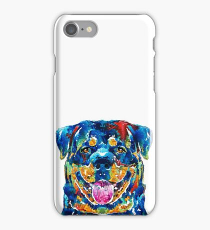 Colorful Rottie Art - Rottweiler by Sharon Cummings iPhone Case/Skin