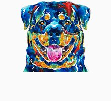 Colorful Rottie Art - Rottweiler by Sharon Cummings Unisex T-Shirt