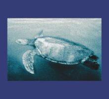 Green Turtle Surfacing - Grand Cayman T-Shirt by Andrew Bret Wallis