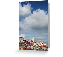 Phanteon or Santa Engracia church in Lisbon Greeting Card
