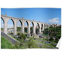 Aqueduct in Lisbon Poster