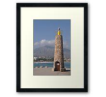 Puerto Banus lighthouse Framed Print