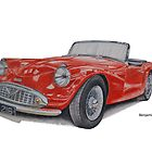 Daimler SP250 Dart by BSIllustration