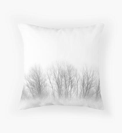 Fogged Family Trees Throw Pillow