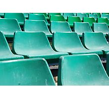 Stadium green seats Photographic Print