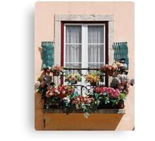 Lisbon´s window balcony Canvas Print