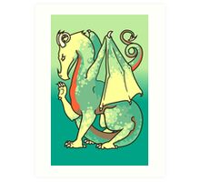 The Green and Red Dragon Art Print