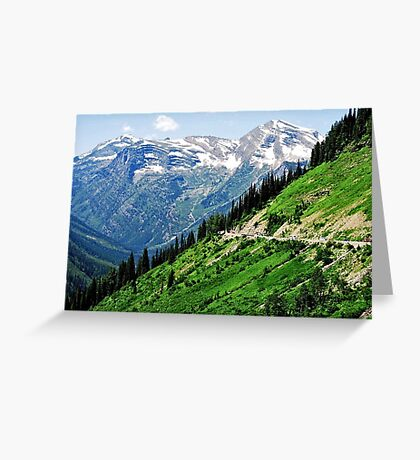 Top of the World at Glacier National Park Greeting Card