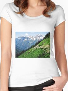 Top of the World at Glacier National Park Women's Fitted Scoop T-Shirt