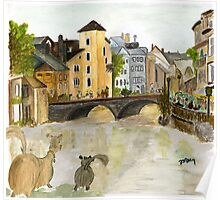 Annecy River Poster