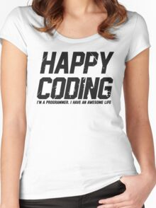 Programmer : Happy Coding Women's Fitted Scoop T-Shirt