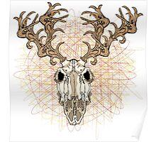 Skull Deer Poster
