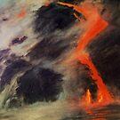 Lava Meeting Ocean by E.E. Jacks
