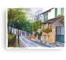 Rue Cortot Canvas Print