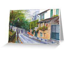 Rue Cortot Greeting Card